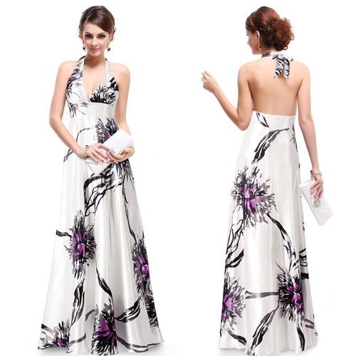 Роскошное атласное платье с открытой спиной