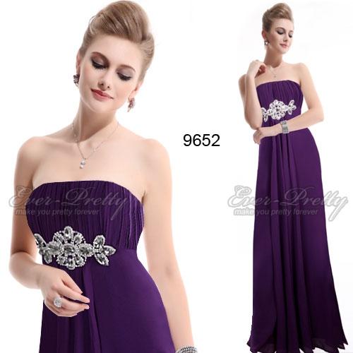 Шикарное фиолетовое платье с украшением
