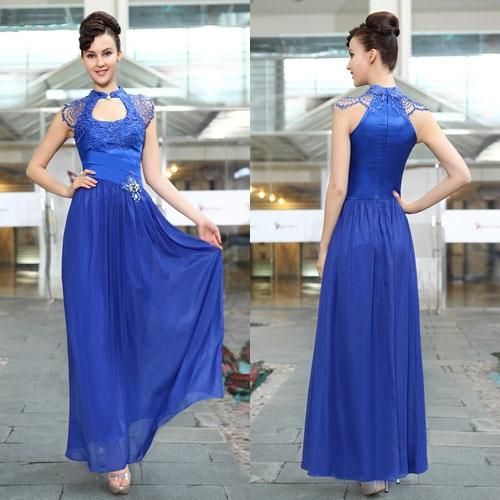 Синее платье в стиле