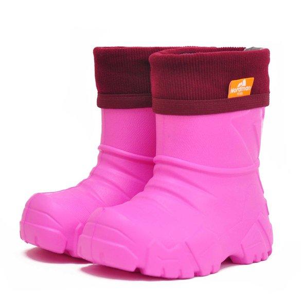 6acda6685 Сапоги детские Nordman Kids с флисовым утеплителем розовые