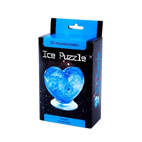 3D Головоломка Сердце голубое 0-304