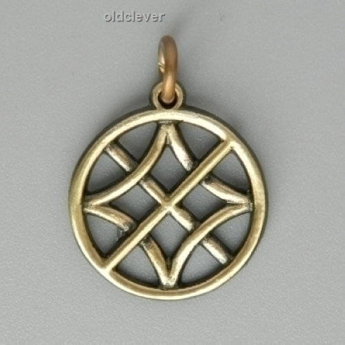 Подвеска Символ Солнца,латунь Л2.024