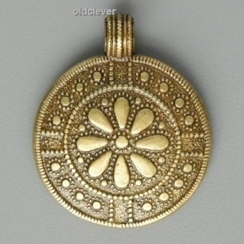 Подвеска Цветок Перуна (перынник),латунь Л2.046