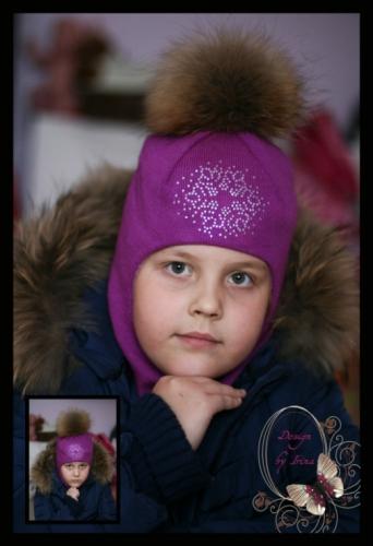 Шлем для девочки «Снежная королева»(фиолет)