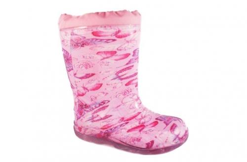 Резиновые сапоги (розовый, бабочки)