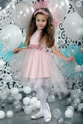 платье для девочки Карамель А 17-3 пудра