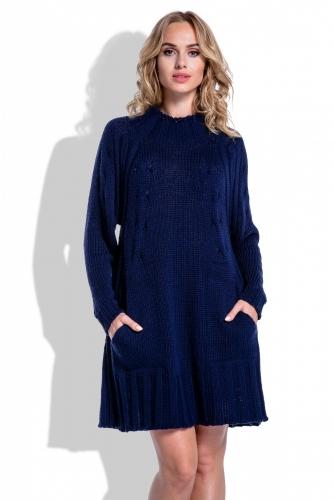 I194 платье темно-синее 1890р