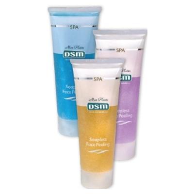 Крем-пилинг для лица без  содержания мыла голубой