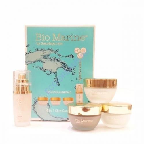 Bio Marine Набор минеральных средств для ухода за кожей лица (Дневной, ночной, для глаз, серум для лица)  NEW