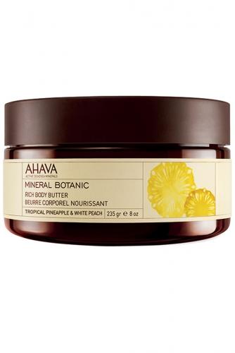 Ahava Mineral Botanic Насыщенное масло для тела Тропический ананас и белый персик 235 гр
