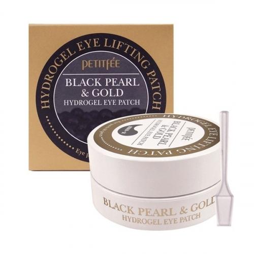 [PETITFEE] Гидрогелевые патчи для век  с черным жемчугом и золотом ЖЕМЧУГ/ЗОЛОТО Black Pearl&Gold Hydrogel Eye Patch, 60 шт