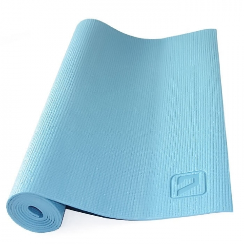 Мат для фитнеса LIVEUP 173x61x0,4см. (голубой)