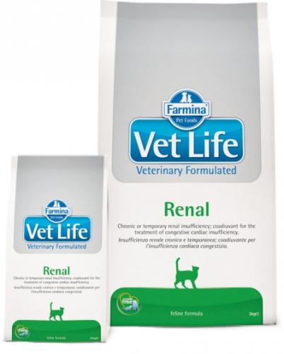 Vet Life RenalДиетическое питание для кошек при заболеваниях почек