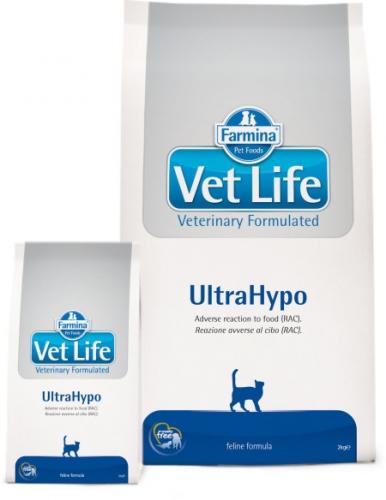 Vet Life UltraНypoДиетическое питание для кошек при неблагоприятных реакциях на пищу (RAC)