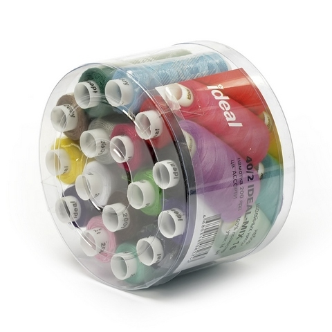 Набор швейных ниток  40/2, 100% п/э, MIX.16 шт.АССОРТИ