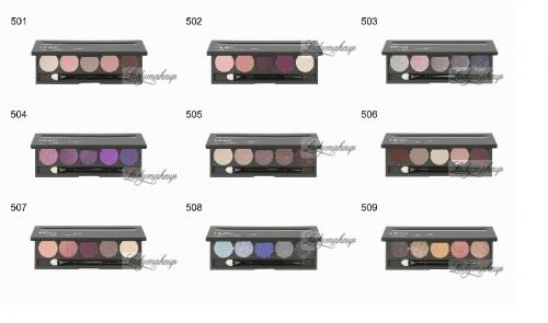 тени для век 5 HD magnetic palette with an applicator - Royal 507