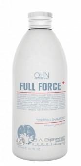 OLLIN FULL FORCE ЖЕНЬШЕНЬ Тонизирующий шампунь с экстрактом пурпурного женьшеня 300 мл/725713 ,