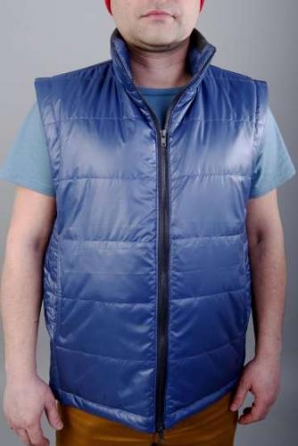 Арт.GM-01 Утепленный мужской жилет.Цвет-синий