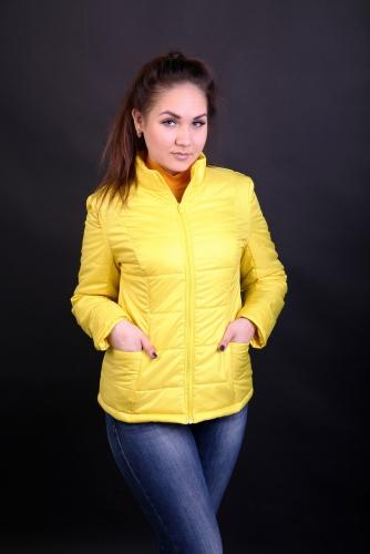 Куртка женская утепленная синтепоном арт. KG-001 цвет- желтый