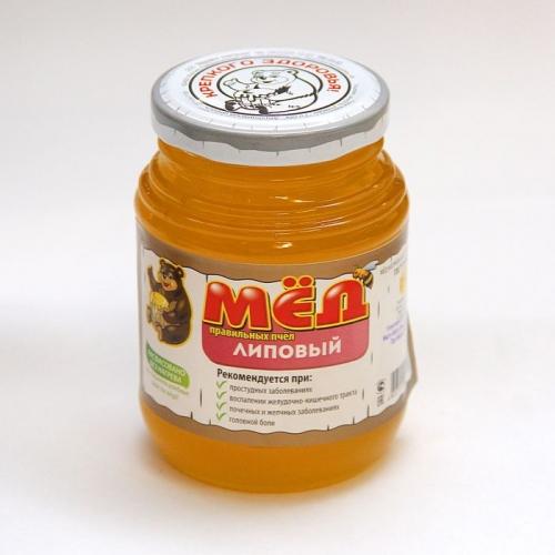 Мед правильных пчел липовый, стекло, 370 гр