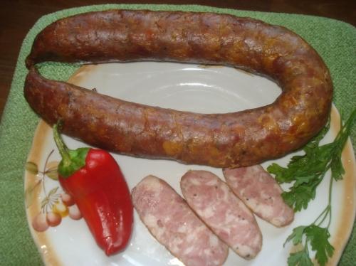 Копченая колбаса