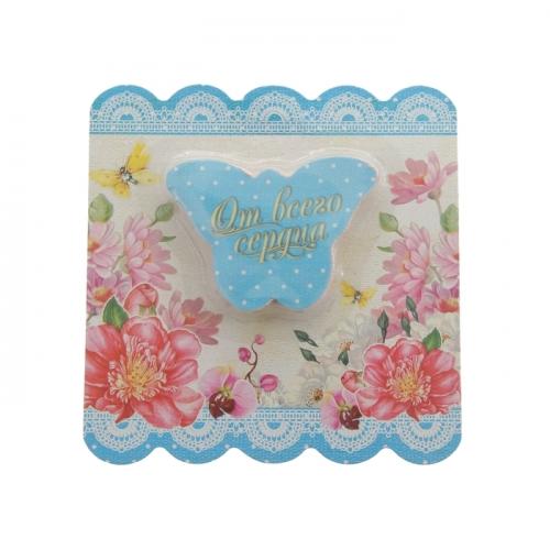 Прессованное полотенце на открытке