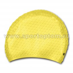 Шапочка для плавания силиконовая длинные волосы рифленная INDIGO INDIGO 703 SC