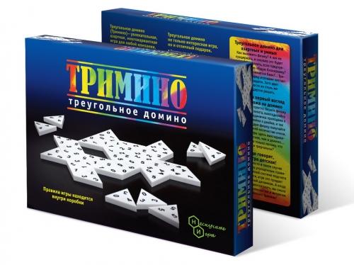 Игра Тримино (треугольное домино) арт.7059 /14 от Игры Бэмби Артикул:
