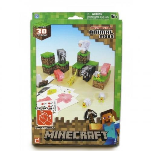 Бумажный конструктор Minecraft Papercraft Игровой мир Дружелюбные мобы 30 деталей 16701