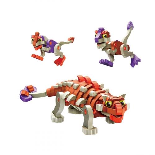 КонструкторАнкилозавр и малыши, 200 деталей 3504