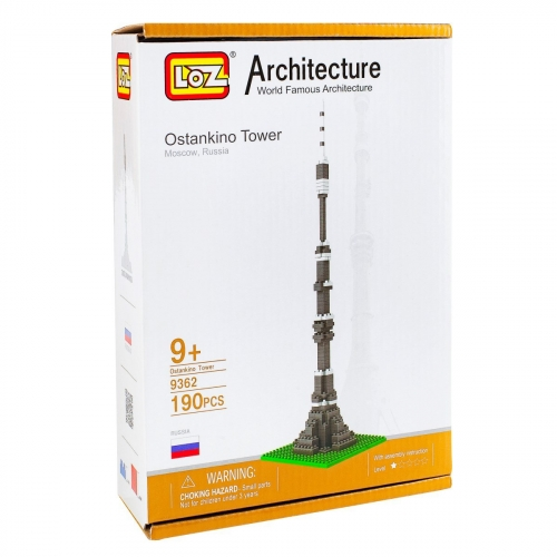 Конструктор Loz. Серия: Архитектура. Останкинская башня 9362