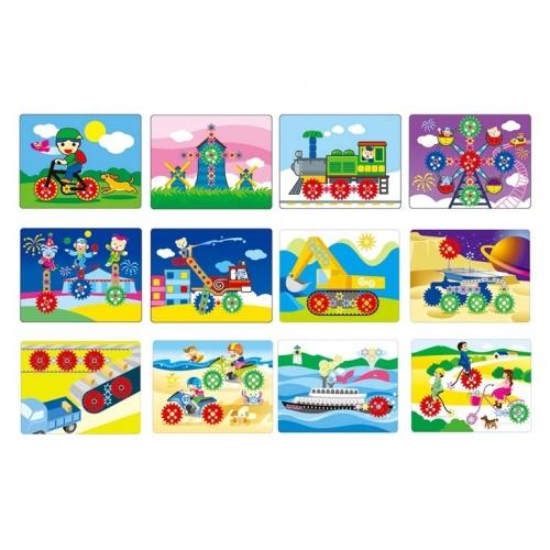 Рабочие карточки для набора Шестеренки Gigo Work cards for gear kit 1195-4