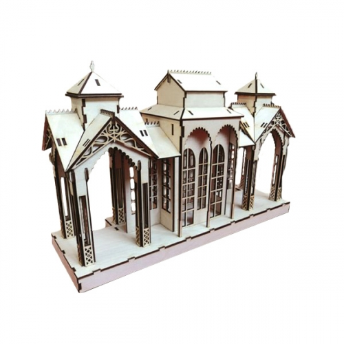 Конструктор деревянный Станция большая 162393