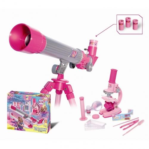 Набор для исследований Телескоп и микроскоп для девочек, 35 предметов 2202