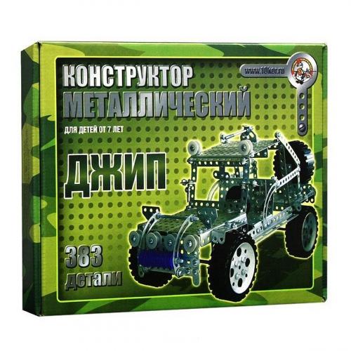 Конструктор металлический Джип 383 элемента 00955