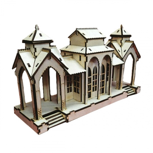 Конструктор деревянный Станция маленькая 162392