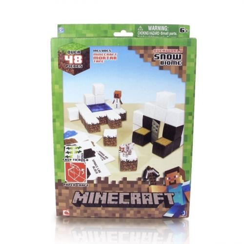 Бумажный конструктор Minecraft Papercraft Игровой мир Снежный биом 48 деталей 16712