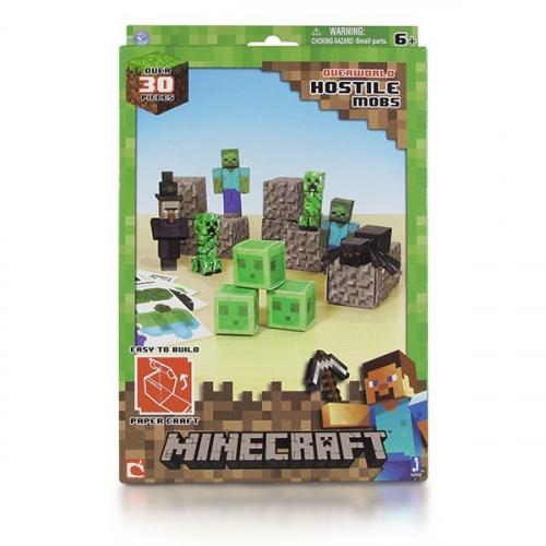 Бумажный конструктор Minecraft Papercraft Игровой мир Враждебные мобы 30 деталей 16703