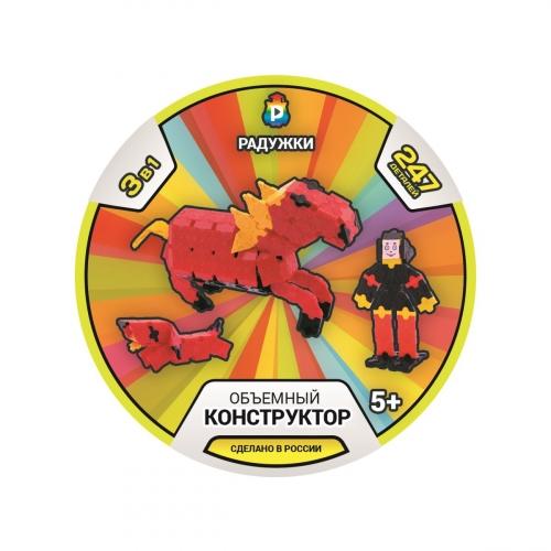 Объемный конструктор Лошадь. Наездник. Такса 12-13