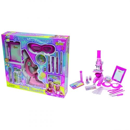 Набор для исследований Микроскоп для девочек, 62 предмета 2204