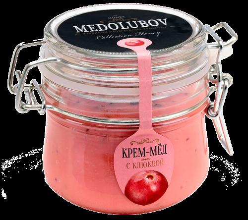 Крем-мёд Медолюбов с клюквой (бугель) 250мл