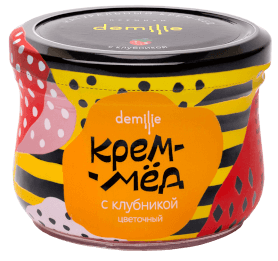 Крем-мёд Демилье с клубникой 250мл