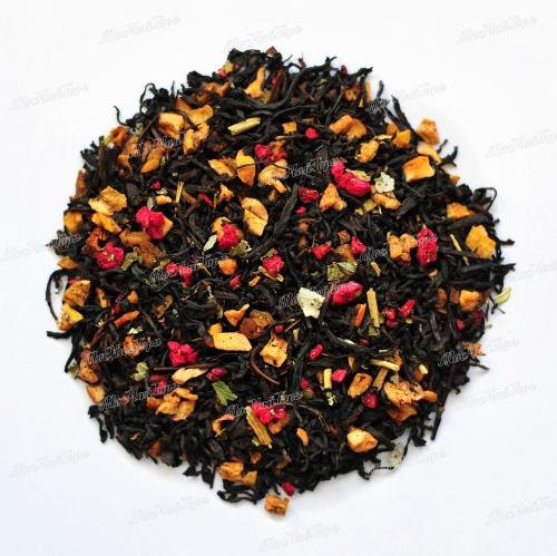 Черный чай - Малиновый закат Премиум