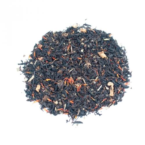 Черный чай - Айва с персиком