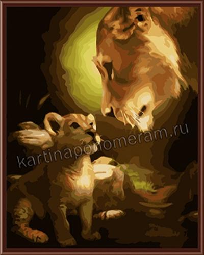 Львы, отец и сын