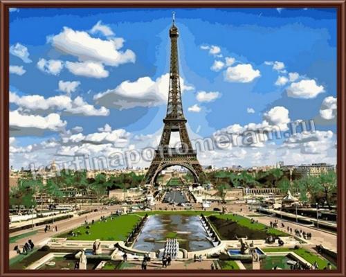 Облака над Эйфелевой башней