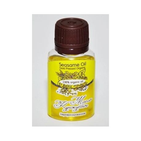 Масло КУНЖУТНОЕ/ Seasame Oil Gold Pressed Organic / нерафинированное, органик/ 20 ml