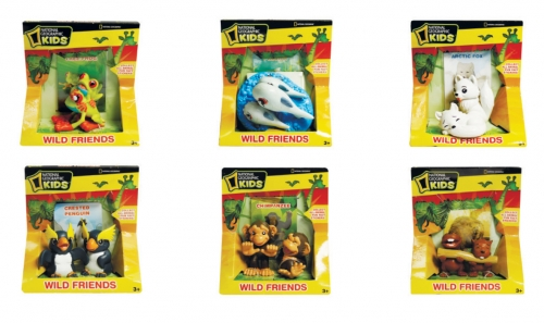 National Geographic набор животные 2 фигурки, 6 видов