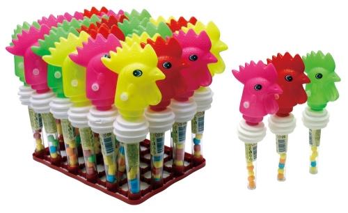 ПЕТУШОК-ШУМЕЛКА игрушка с конфетами, блок 30 шт. (2г х 30 х 24)