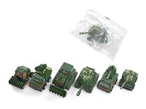 Тилибом, военная техника, инерционная модель 4х3,3х5 см, пакет